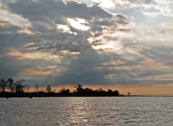 Sunbeams over Lake Ponchartrain - photo by Bob Fergeson